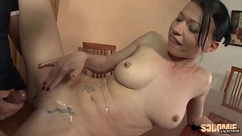elsa jean and justine joli: two lesbians on the bed