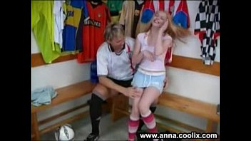 two hot lesbians enjoy raunchy sex after a soccer game