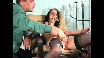 humiliated slave licks her fingers and licks her cunt